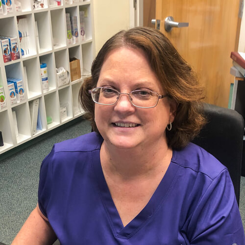 Tammy, our office manager at Willow Grove Animal Clinic